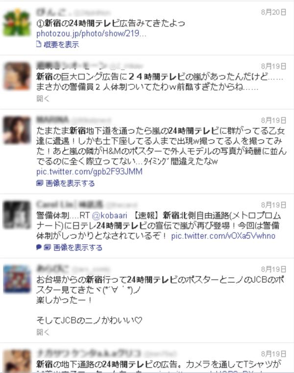 Twitterなどのソーシャルメディアでも、多くの投稿が観察された。